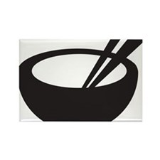 Rice Bowl Rectangle Magnet