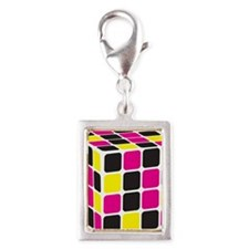 Cube Silver Portrait Charm