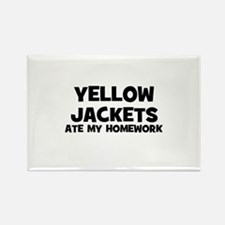 Yellow Jackets Ate My Homewor Rectangle Magnet