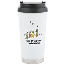 Cute Social work month Travel Mug
