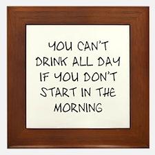 Drink All Day Framed Tile