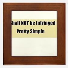 Shall not be infringed Framed Tile