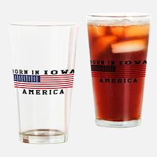 Born In Iowa Drinking Glass