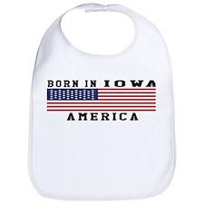 Born In Iowa Bib