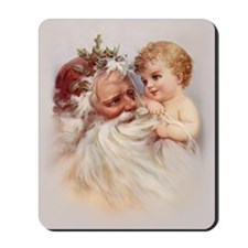 Santa and Cherub Mousepad