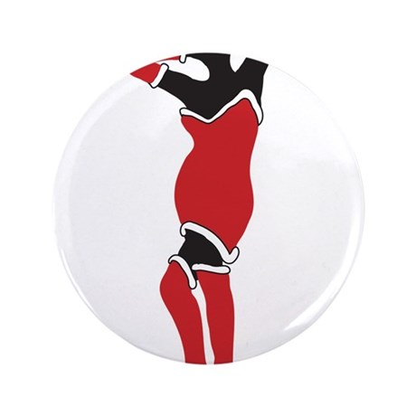 "Christmas Pinup 3.5"" Button (100 pack)"