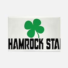 Shamrock Star Rectangle Magnet