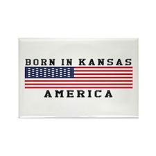 Born In Kansas Rectangle Magnet