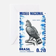 Vintage 1968 Brazil Eagle Postage Stamp Greeting C