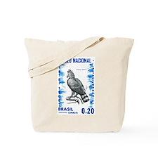 Vintage 1968 Brazil Eagle Postage Stamp Tote Bag