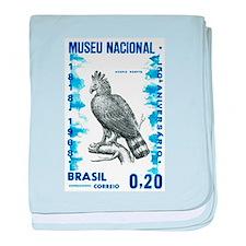 Vintage 1968 Brazil Eagle Postage Stamp baby blank