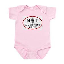 NOT A GUN FREE ZONE Infant Bodysuit