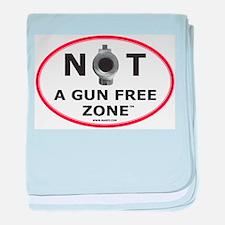 NOT A GUN FREE ZONE baby blanket