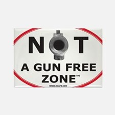 NOT A GUN FREE ZONE Rectangle Magnet