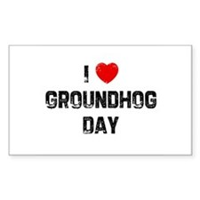 I * Groundhog Day Rectangle Decal