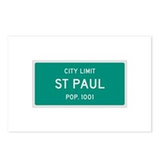 St Paul, Texas City Limits Postcards (Package of 8