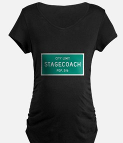 Stagecoach, Texas City Limits Maternity T-Shirt