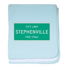 Stephenville, Texas City Limits baby blanket