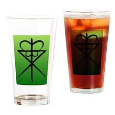 green water block Drinking Glass