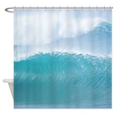 Big Hawaii Surf Tropical Shower Curtain