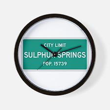 Sulphur Springs, Texas City Limits Wall Clock