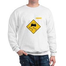 Burnout Traffic Sign 2 Sweatshirt