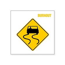Burnout Traffic Sign 3 Sticker
