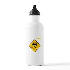 Burnout Traffic Sign 3 Water Bottle