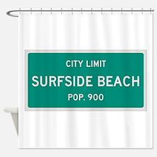 Surfside Beach, Texas City Limits Shower Curtain