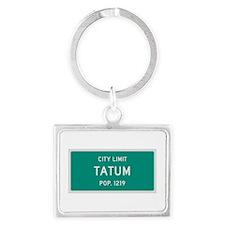 Tatum, Texas City Limits Landscape Keychain