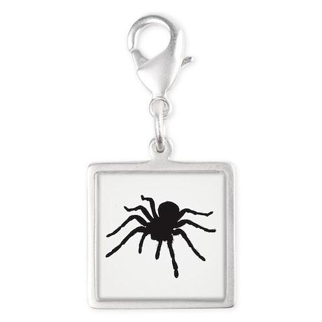 Spider Silver Square Charm