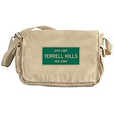 Terrell Hills, Texas City Limits Messenger Bag