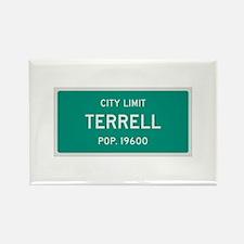 Terrell, Texas City Limits Rectangle Magnet