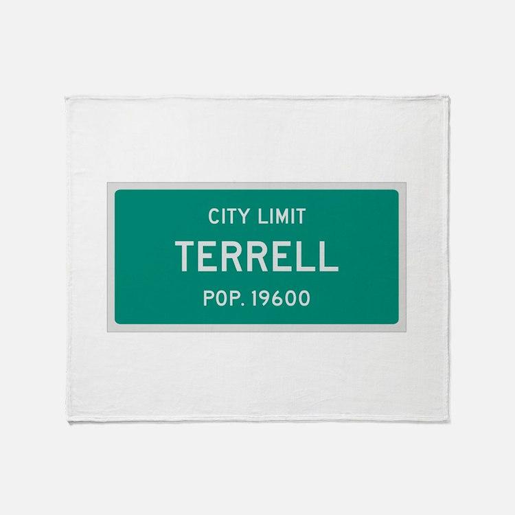 Terrell, Texas City Limits Throw Blanket