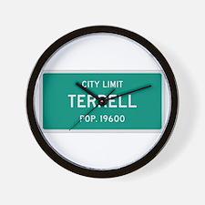 Terrell, Texas City Limits Wall Clock