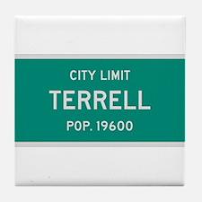 Terrell, Texas City Limits Tile Coaster