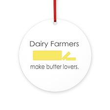Dairy Farmers Make... Ornament (Round)