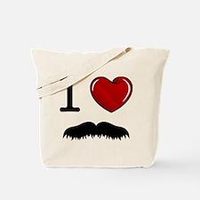 I Love Mustache Tote Bag