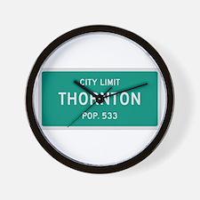 Thornton, Texas City Limits Wall Clock