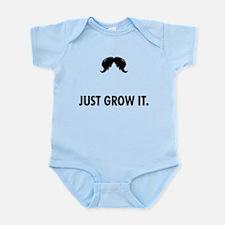 Grow A Mustache Infant Bodysuit