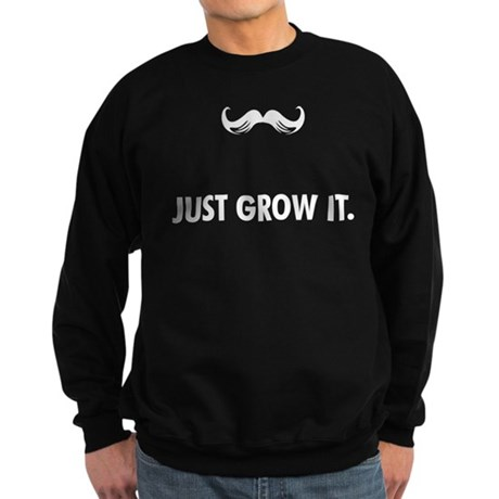 Grow A Mustache Sweatshirt (dark)