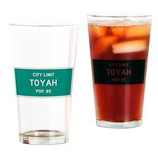 Toyah, Texas City Limits Drinking Glass