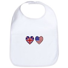 Union Jack / USA Heart Flags Bib