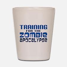 Training for Zombie Apocalypse Shot Glass