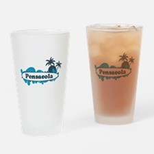 Pensacola Beach - Surf Design. Drinking Glass