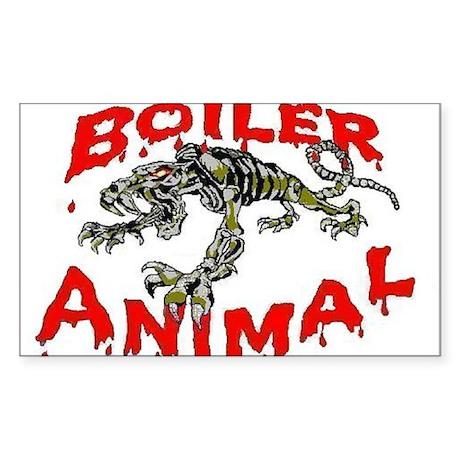 Boiler Animal Oval Sticker