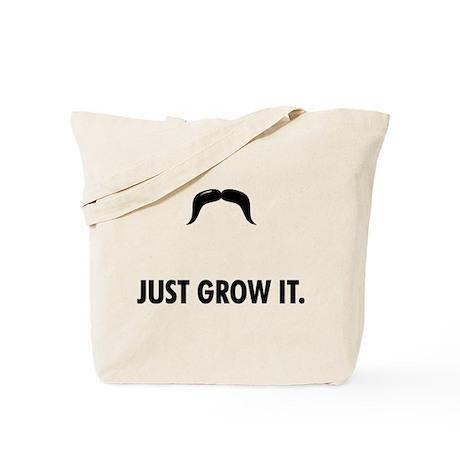 Grow A Mustache Tote Bag