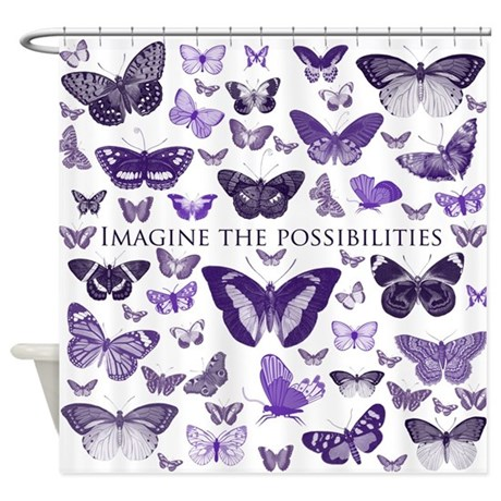 Purple Butterflies Imagine Shower Curtain By Be Inspired By Life