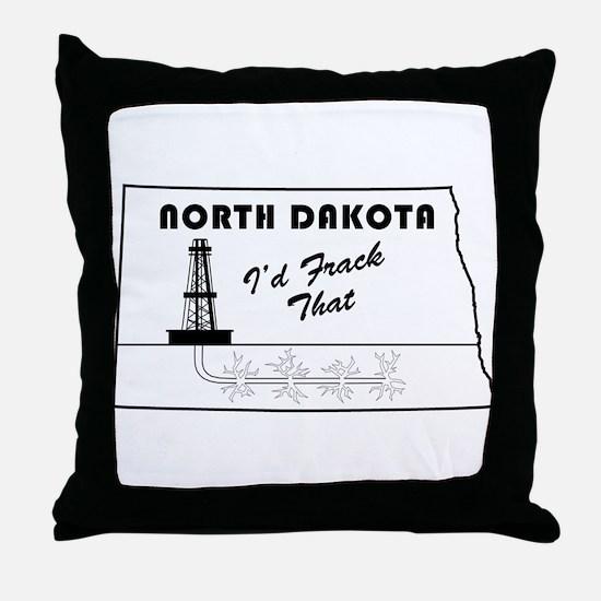 Frack the Bakken Throw Pillow