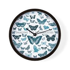 Blue Butterflies imagine Wall Clock
